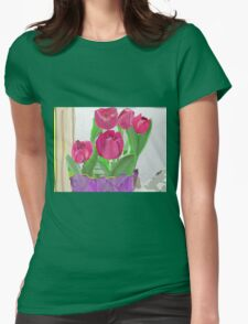 Tulips from Sally Womens Fitted T-Shirt