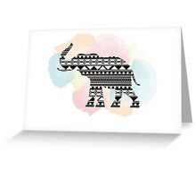 Elephant Aztec Watercolor Greeting Card