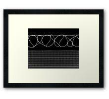 Sharp Lazy Loops Framed Print