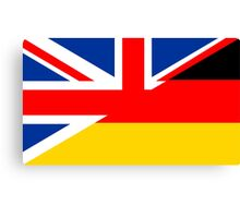 uk germany flag Canvas Print