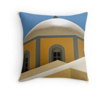Dome on Greek Orthodox Chapel - Collaboration  Throw Pillow