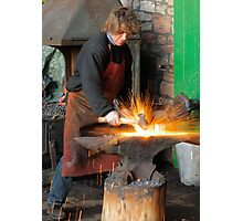 Cold Steel Striking Hot Iron Photographic Print