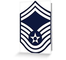 Air Force Senior Master Sergeant - E8 Greeting Card