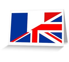 uk france flag Greeting Card