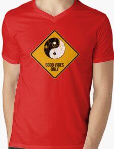 Yin Yang -  Good Vibes Only Mens V-Neck T-Shirt