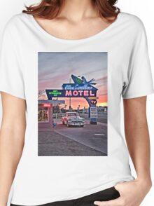 Blue Swallow Motel, Tucumcari, New Mexico Women's Relaxed Fit T-Shirt