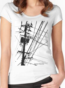 Japan Electric Women's Fitted Scoop T-Shirt