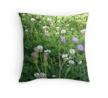 Who ever said weeds couldn't be beautiful :) Throw Pillow
