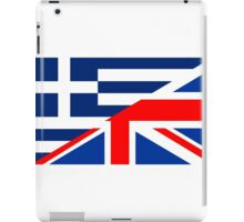 uk greece flag iPad Case/Skin