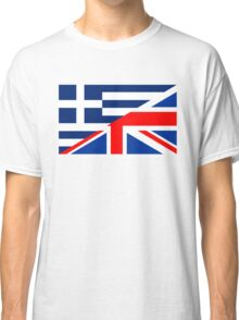 uk greece flag Classic T-Shirt