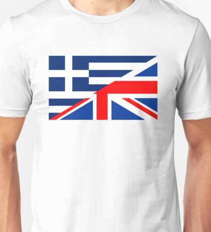 uk greece flag Unisex T-Shirt