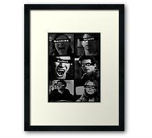 Teen Wolf Black&White Framed Print