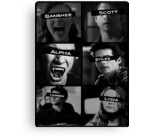 Teen Wolf Black&White Canvas Print