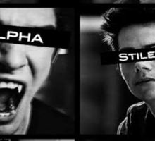 Teen Wolf Black&White Sticker