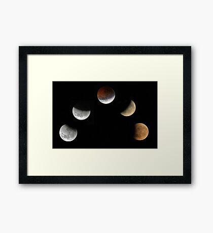 Partial Lunar Eclipse - August 17 2008  Framed Print