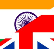 uk india flag Sticker
