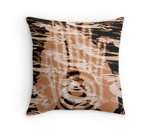 Native American Symbols - Fractal trace Throw Pillow