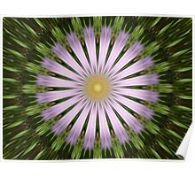 Green and Purple Starburst Photographic Manipulation Poster