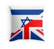 uk israel flag Throw Pillow