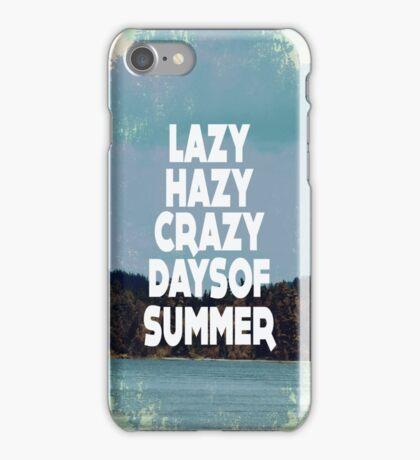 Lazy Hazy Summer iPhone Case/Skin
