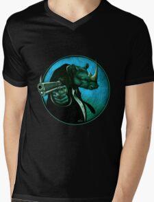 Mr Black Mens V-Neck T-Shirt