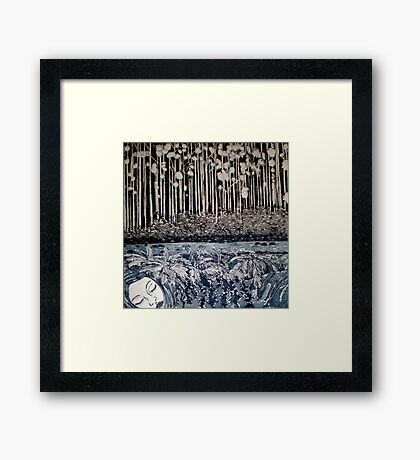 Secret Forest Dreams-Aquatint Etching Framed Print