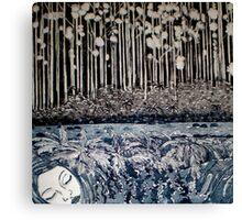 Secret Forest Dreams-Aquatint Etching Canvas Print