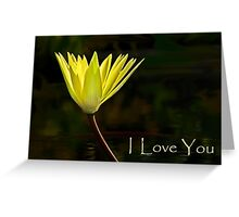 Valentine card - Yellow waterlily Greeting Card