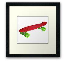 Cool Retro Skate - Red version Framed Print