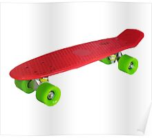Retro Skate - Red version - Amazing transparente effect Poster