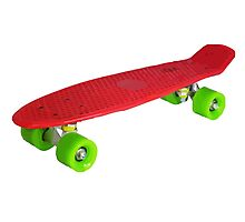 Retro Skate - Red version - Amazing transparente effect Photographic Print