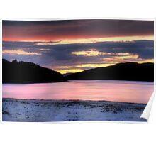 Morar Beach Sunset Poster