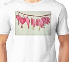 Hearts on the line Unisex T-Shirt