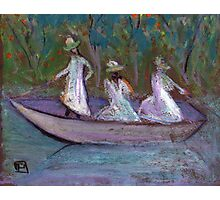 3 Girls in a boat Photographic Print