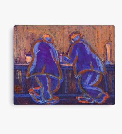 Propping up the bar Canvas Print