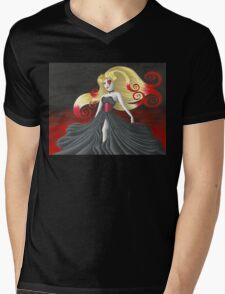 The Queen of Hearts Mens V-Neck T-Shirt