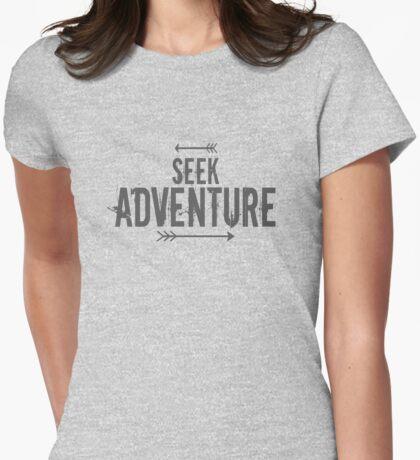 Seek Adventure Womens Fitted T-Shirt