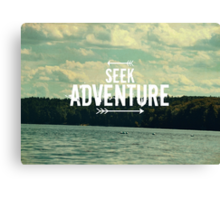 Seek Adventure Canvas Print