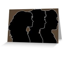 Hermione, Harry, Ron Silhouettes (Harry Potter) Greeting Card
