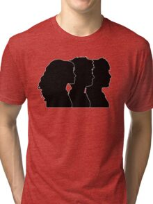 Hermione, Harry, Ron Silhouettes (Harry Potter) Tri-blend T-Shirt