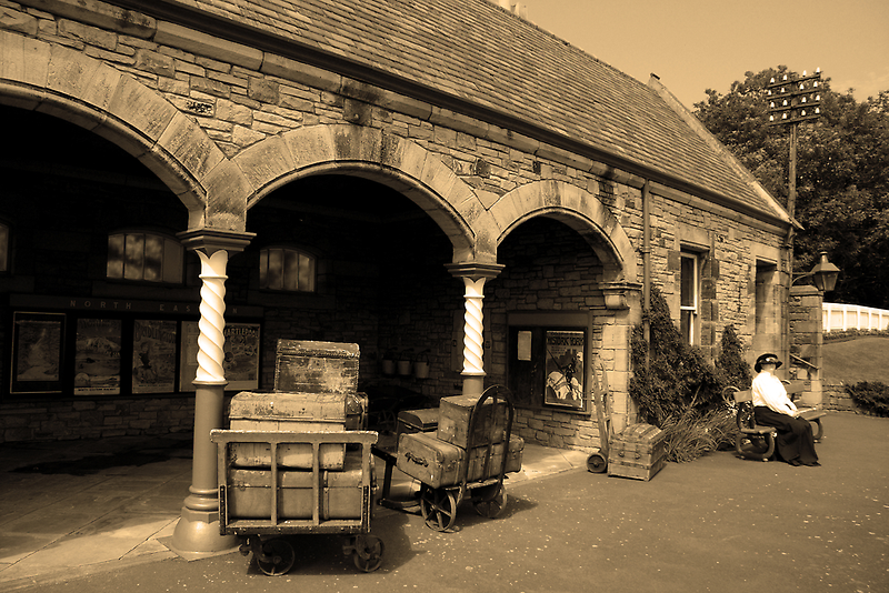Times Gone By - Luggage at Beamish by Dave Law