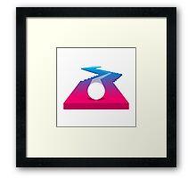 Super Line Rush game icon Framed Print