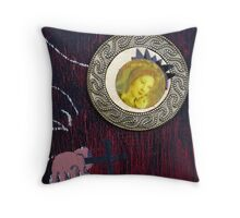 detail of Madonna-crone.. Throw Pillow