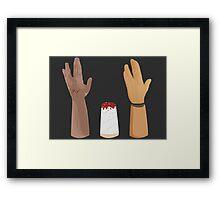 Hands-volution Framed Print