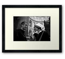 Chatting Framed Print