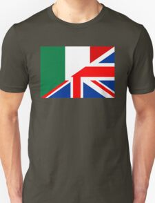 uk italy flag Unisex T-Shirt