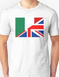 uk italy flag Unisex T-Shirt