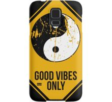 Yin Yang -  Good Vibes Only Samsung Galaxy Case/Skin