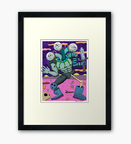 A Hero For Our Modern Times Framed Print