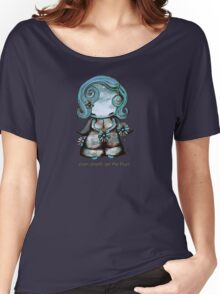 Even Angels Get the Blues in Blues (Sml Design) Women's Relaxed Fit T-Shirt
